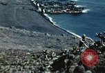 Image of famous American flag raising Mount Suribachi Iwo Jima, 1945, second 10 stock footage video 65675051573