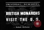 Image of British monarchs Washington DC USA, 1939, second 1 stock footage video 65675051600