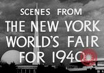 Image of New York World's fair New York City USA, 1940, second 6 stock footage video 65675051606