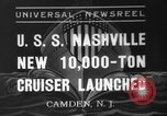 Image of USS Nashville Camden New Jersey USA, 1937, second 1 stock footage video 65675051612