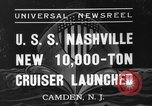 Image of USS Nashville Camden New Jersey, 1937, second 2 stock footage video 65675051612