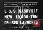 Image of USS Nashville Camden New Jersey, 1937, second 4 stock footage video 65675051612