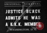 Image of Hugo Black admits KKK membership Washington DC USA, 1937, second 1 stock footage video 65675051613