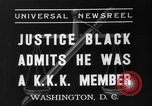 Image of Hugo Black admits KKK membership Washington DC USA, 1937, second 2 stock footage video 65675051613
