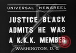 Image of Hugo Black admits KKK membership Washington DC USA, 1937, second 3 stock footage video 65675051613