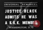Image of Hugo Black admits KKK membership Washington DC USA, 1937, second 4 stock footage video 65675051613