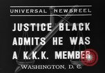 Image of Hugo Black admits KKK membership Washington DC USA, 1937, second 5 stock footage video 65675051613