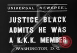 Image of Hugo Black admits KKK membership Washington DC USA, 1937, second 7 stock footage video 65675051613