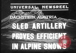 Image of sled artillery Austria, 1935, second 2 stock footage video 65675051629