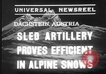 Image of sled artillery Austria, 1935, second 7 stock footage video 65675051629