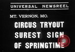 Image of Seils-Sterling Circus animal auditions Mount Vernon Missouri USA, 1935, second 1 stock footage video 65675051633