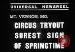 Image of Seils-Sterling Circus animal auditions Mount Vernon Missouri USA, 1935, second 3 stock footage video 65675051633