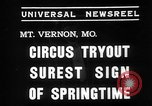 Image of Seils-Sterling Circus animal auditions Mount Vernon Missouri USA, 1935, second 4 stock footage video 65675051633