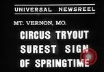 Image of Seils-Sterling Circus animal auditions Mount Vernon Missouri USA, 1935, second 6 stock footage video 65675051633