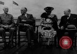 Image of President Roosevelt and Winston Churchill outside at Quebec Conference Quebec Canada, 1943, second 2 stock footage video 65675051786