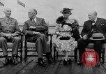 Image of President Roosevelt and Winston Churchill outside at Quebec Conference Quebec Canada, 1943, second 3 stock footage video 65675051786