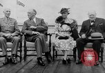 Image of President Roosevelt and Winston Churchill outside at Quebec Conference Quebec Canada, 1943, second 4 stock footage video 65675051786