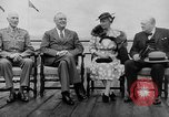 Image of President Roosevelt and Winston Churchill outside at Quebec Conference Quebec Canada, 1943, second 7 stock footage video 65675051786