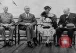 Image of President Roosevelt and Winston Churchill outside at Quebec Conference Quebec Canada, 1943, second 8 stock footage video 65675051786