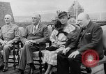 Image of President Roosevelt and Winston Churchill outside at Quebec Conference Quebec Canada, 1943, second 10 stock footage video 65675051786