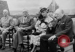 Image of President Roosevelt and Winston Churchill outside at Quebec Conference Quebec Canada, 1943, second 11 stock footage video 65675051786