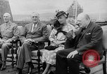 Image of President Roosevelt and Winston Churchill outside at Quebec Conference Quebec Canada, 1943, second 12 stock footage video 65675051786