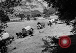 Image of horse drawn covered wagons United States USA, 1918, second 8 stock footage video 65675051805