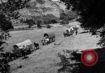 Image of horse drawn covered wagons United States USA, 1918, second 12 stock footage video 65675051805