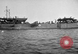 Image of loaded LST English Channel, 1944, second 5 stock footage video 65675051834