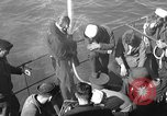 Image of U.S. sailors test fire hose on an LST Portland England, 1944, second 5 stock footage video 65675051842