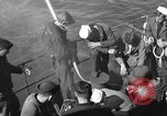 Image of U.S. sailors test fire hose on an LST Portland England, 1944, second 7 stock footage video 65675051842