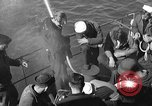 Image of U.S. sailors test fire hose on an LST Portland England, 1944, second 9 stock footage video 65675051842