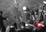Image of U.S. sailors test fire hose on an LST Portland England, 1944, second 11 stock footage video 65675051842