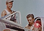 Image of P-47 pilots and crew chiefs of USAAC 57th Fighter Group Corsica France, 1944, second 2 stock footage video 65675051884