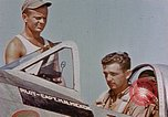 Image of P-47 pilots and crew chiefs of USAAC 57th Fighter Group Corsica France, 1944, second 3 stock footage video 65675051884