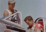 Image of P-47 pilots and crew chiefs of USAAC 57th Fighter Group Corsica France, 1944, second 10 stock footage video 65675051884