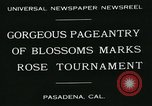 Image of procession of floats Pasadena California USA, 1931, second 2 stock footage video 65675051981