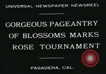 Image of procession of floats Pasadena California USA, 1931, second 3 stock footage video 65675051981