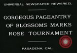 Image of procession of floats Pasadena California USA, 1931, second 4 stock footage video 65675051981