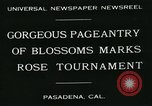 Image of procession of floats Pasadena California USA, 1931, second 5 stock footage video 65675051981