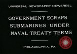 Image of submarine Philadelphia Pennsylvania USA, 1931, second 2 stock footage video 65675051982