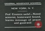 Image of Albert Einstein New York City USA, 1931, second 1 stock footage video 65675051983