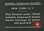Image of Albert Einstein New York City USA, 1931, second 5 stock footage video 65675051983