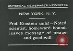 Image of Albert Einstein New York City USA, 1931, second 6 stock footage video 65675051983