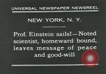 Image of Albert Einstein New York City USA, 1931, second 7 stock footage video 65675051983