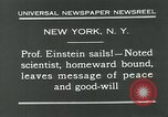 Image of Albert Einstein New York City USA, 1931, second 9 stock footage video 65675051983