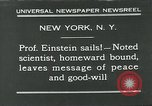 Image of Albert Einstein New York City USA, 1931, second 10 stock footage video 65675051983