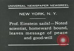 Image of Albert Einstein New York City USA, 1931, second 11 stock footage video 65675051983