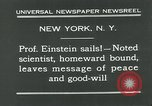 Image of Albert Einstein New York City USA, 1931, second 12 stock footage video 65675051983
