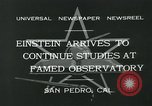 Image of Albert Einstein San Pedro California USA, 1932, second 4 stock footage video 65675051988
